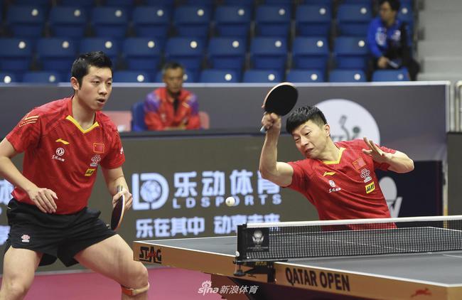 男双险胜张本智和组合 马龙:樊振东/王楚钦更难打